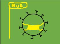 Mund-Nasen-Bedeckung auch im Bus und an den Haltestellen