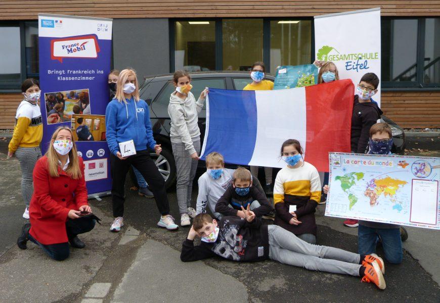 FranceMobil wieder zu Besuch an der Gesamtschule Eifel
